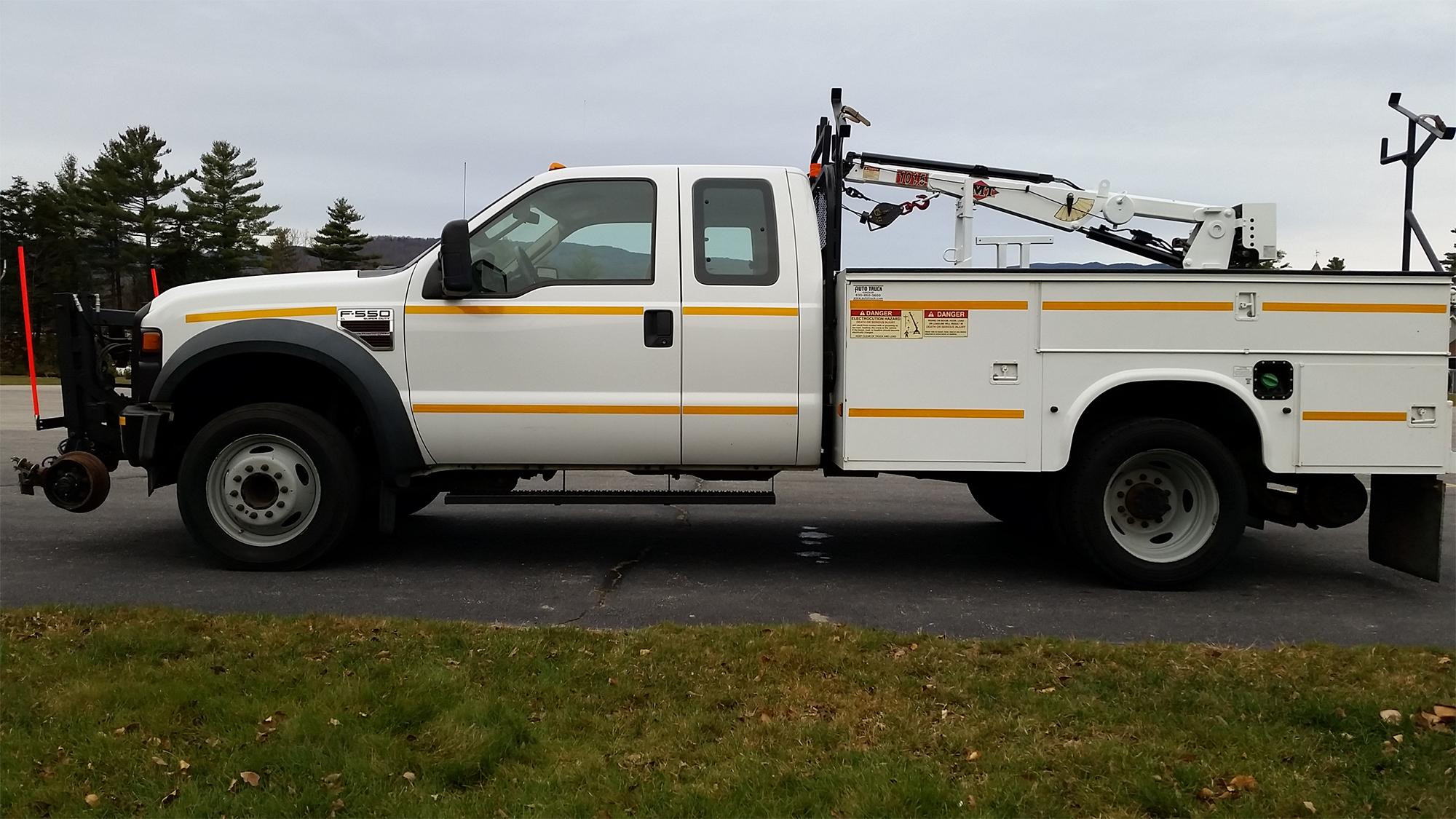 Truck with Hyrail attachment